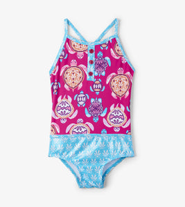 Pretty Sea Turtles Colourblock Swimsuit