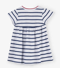 Load image into Gallery viewer, Nautical Stripes Baby Puff Dress