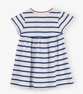 Nautical Stripes Baby Puff Dress