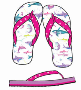Watercolour Sea Friends Flip Flops