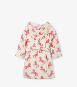 Playful Horses Fleece Robe