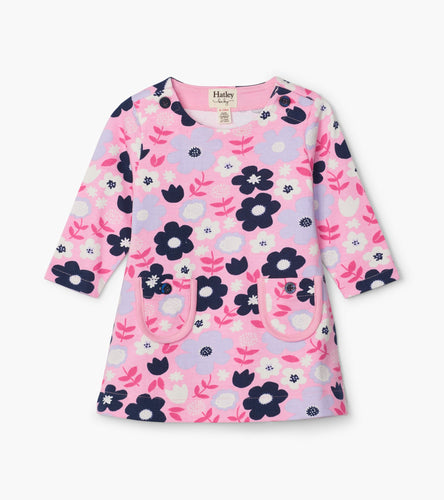 Folk Floral Baby Mod Dress - Prism Pink