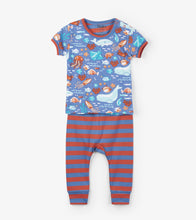 Load image into Gallery viewer, Ocean Friends Organic Cotton Baby Pajama Set