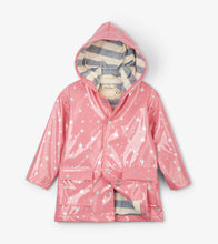 Load image into Gallery viewer, Metallic Hearts Raincoat