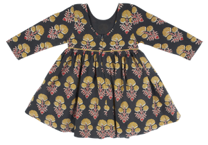 Baby Amma Dress - Black Medallion Floral