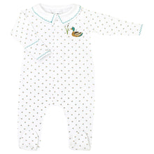 Load image into Gallery viewer, Duck Pond Embroidered Footie CE