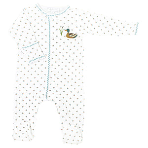 Duck Pond Embroidered Footie CE