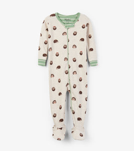 Huggable Hedgehogs Organic Cotton Footed Coverall