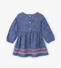 Load image into Gallery viewer, Dolled Up Chambray Baby Woven Dress