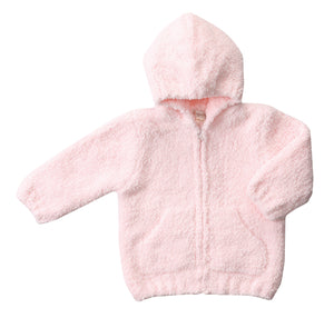 Pink Hooded Chenille Jacket