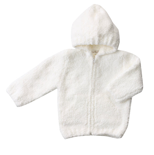 White Hooded Chenille Jacket