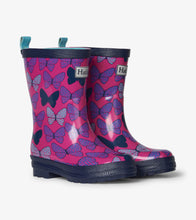 Load image into Gallery viewer, Spotted Butterflies Shiny Rain Boots