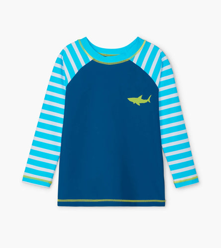 Great White Shark Long Sleeve Rashguard - Blue Atoll