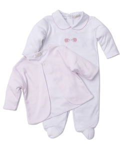 SCE Wee Woodland Footie w/ Jacket Set HE White/Pink
