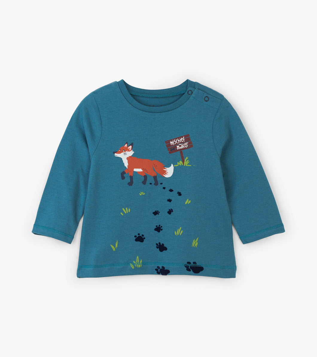 Clever Fox Long Sleeve Baby Tee