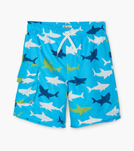 Great White Shark Swim Trunks - Blue Atoll