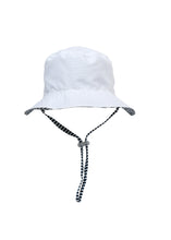 Load image into Gallery viewer, White / Navy Stripe Reversible Bucket Hat