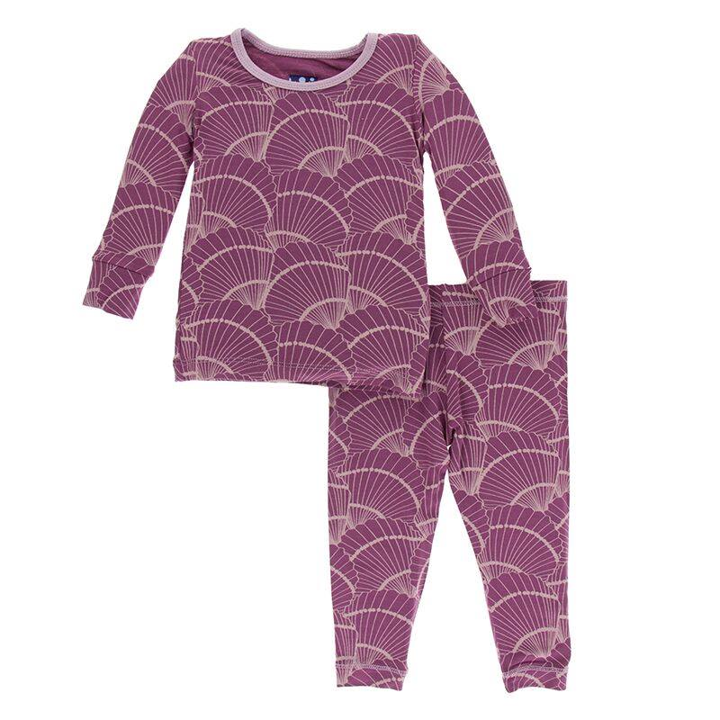 Print Long Sleeve Pajama Set - Shore Future Paleontologist
