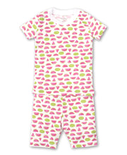 Load image into Gallery viewer, Whimsical Watermelons Short PJ Set Snug PRT - Fuchsia