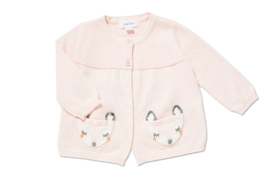 Fox Swing Cardigan Pink