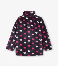 Load image into Gallery viewer, Lovey Hearts Fuzzy Fleece Zip Up