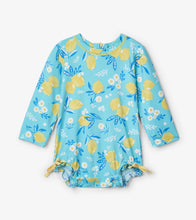 Load image into Gallery viewer, Cute Lemons Baby Rashguard Swimsuit