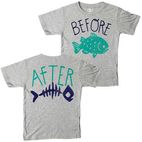 Before After FB SS Tee Heather