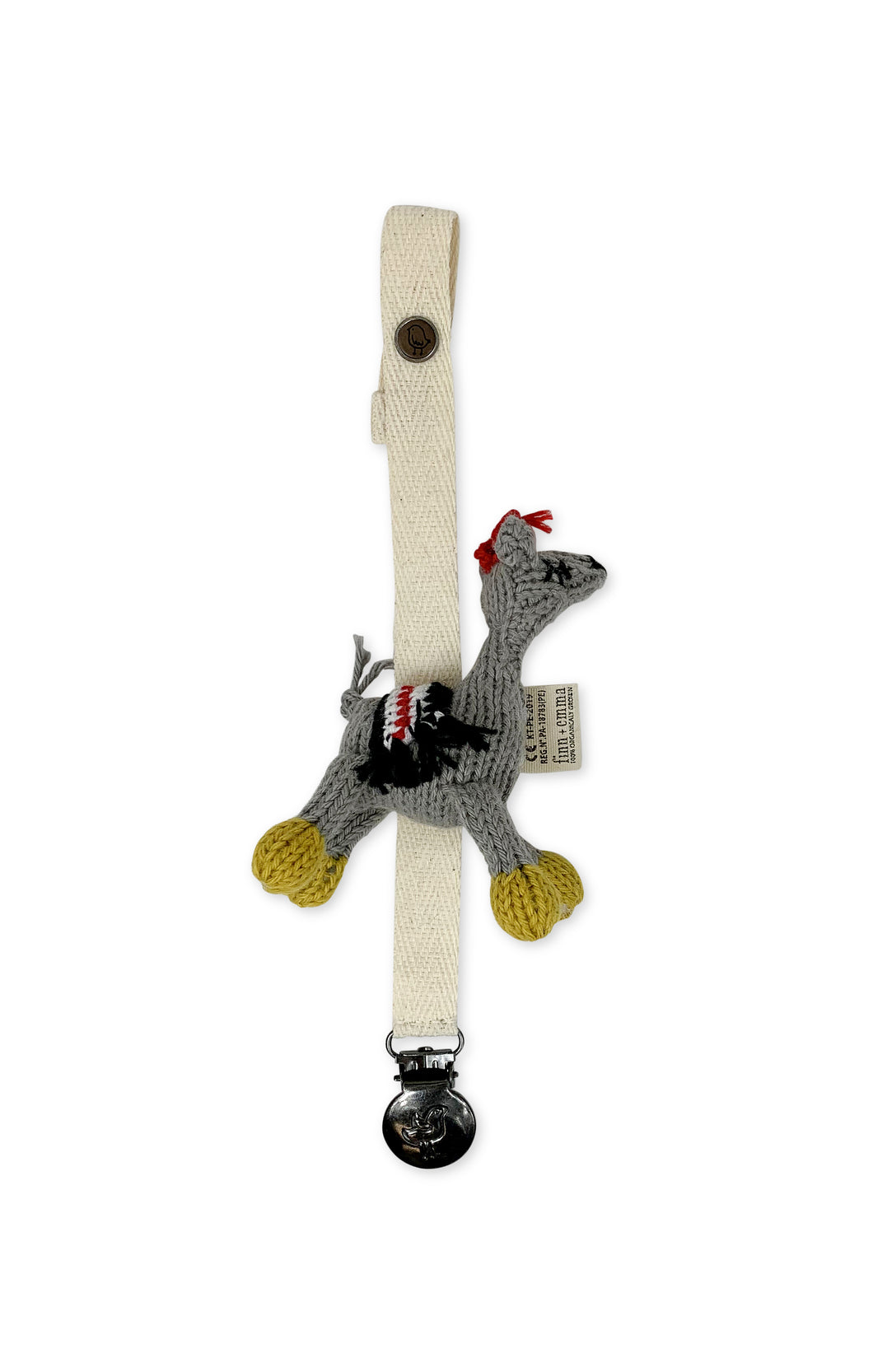Pacifier Holder - Lucia the Llama