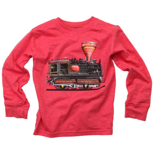 Train Engine LS Tee Cherry BLEND