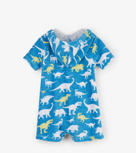 Load image into Gallery viewer, Silhouette Dinos Baby Hooded Romper