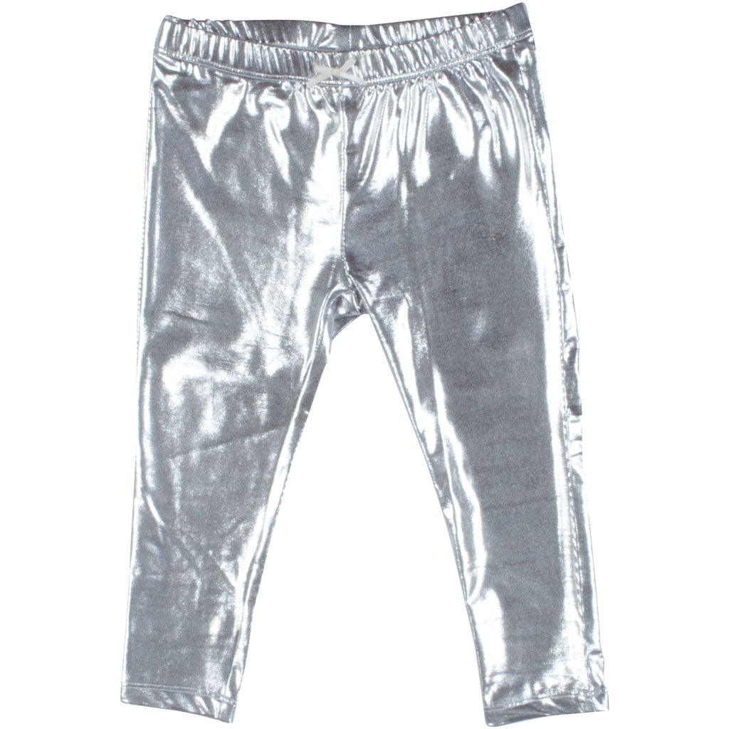 Baby Lame Legging - Silver Lame