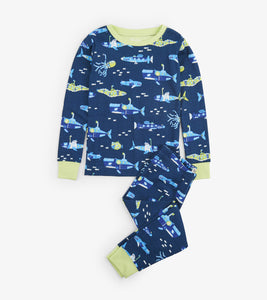 Glowing Animal Subs Organic Cotton Pajama Set