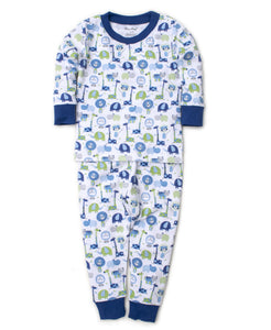 Jazzy Jungle Pajama Set Snug Blue