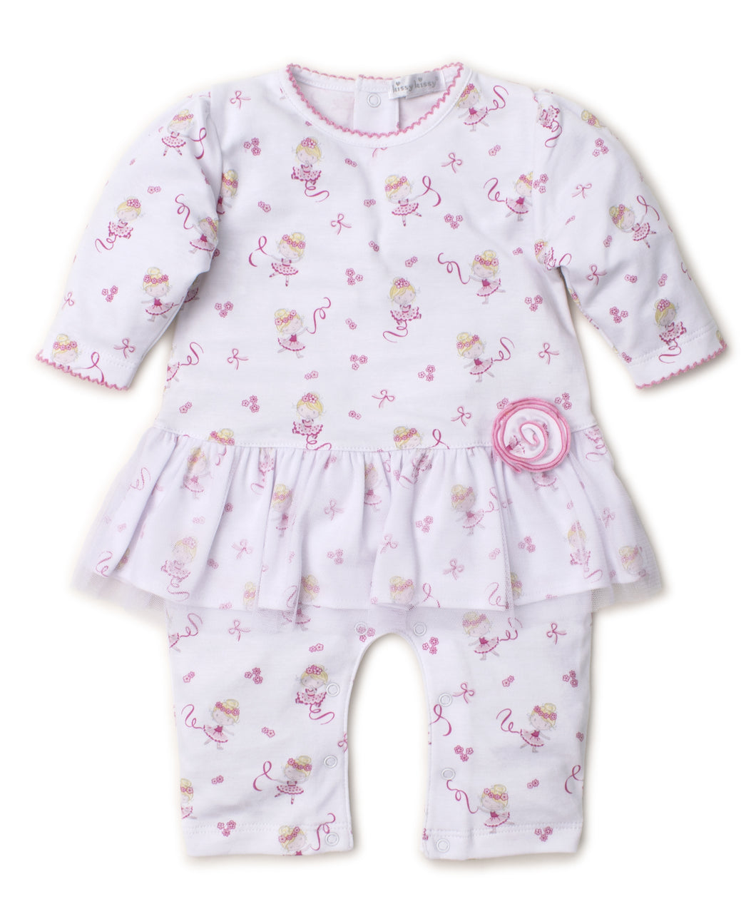 Twirly Toes Playsuit Prt - Pink