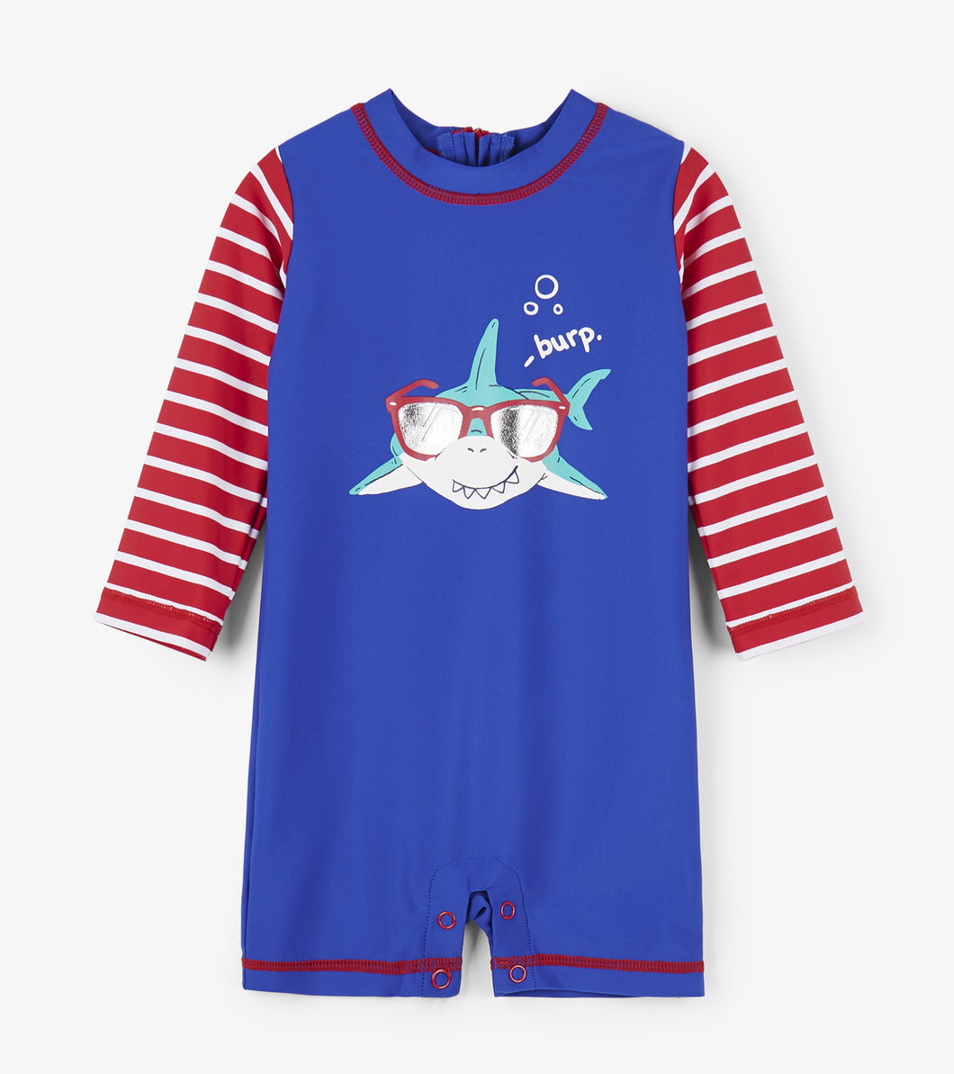 Cool Shark Baby Rashguard One-Piece