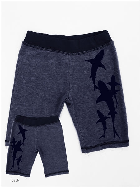 Shark Heather Navy Short