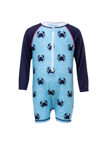 Blue Crab LS Sunsuit