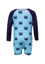 Load image into Gallery viewer, Blue Crab LS Sunsuit