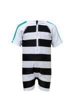 Load image into Gallery viewer, Shark Stripe SS Sunsuit