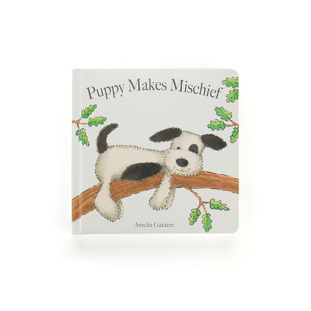 Puppy Makes Mischief Book Jellycat