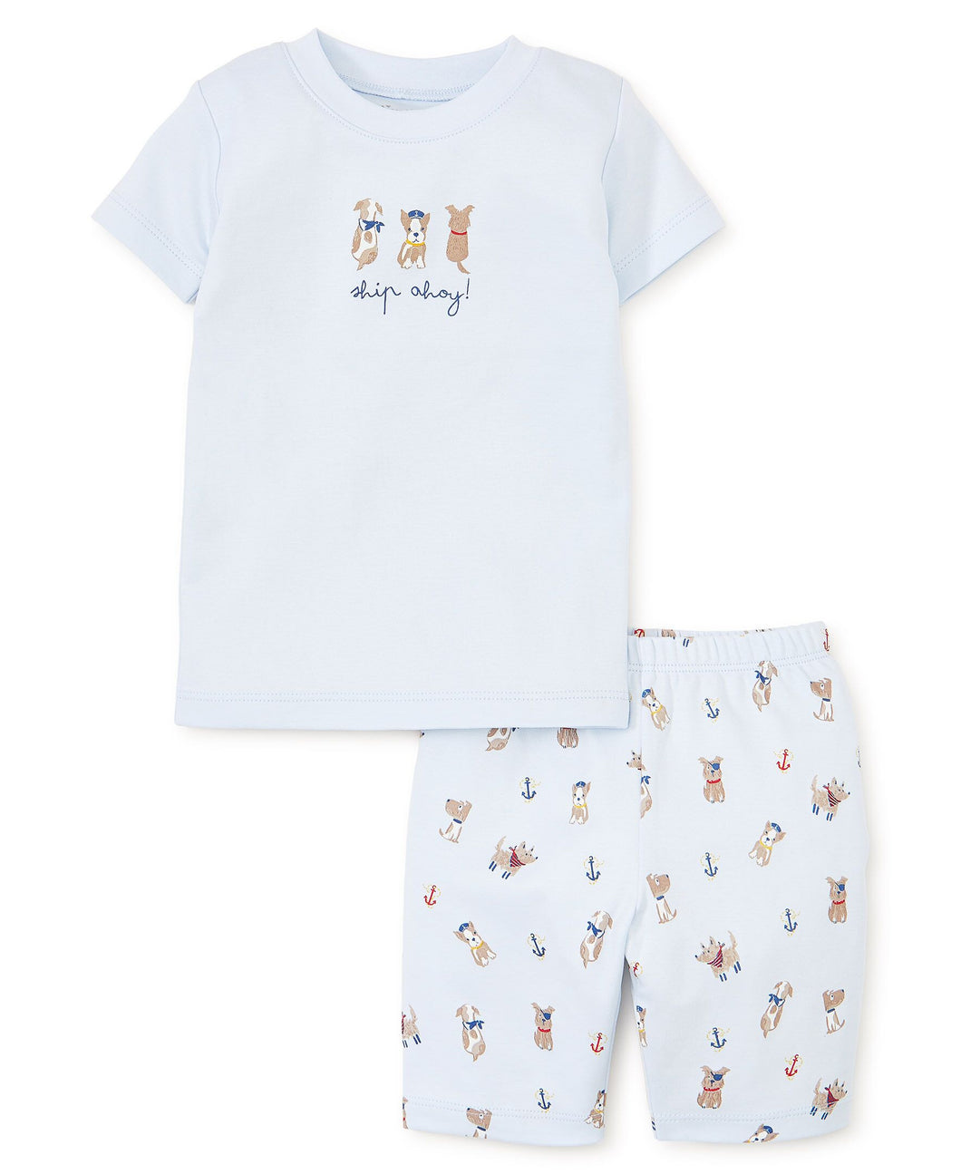 Salty Dogs Light Blue Short Pajama Set