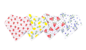 Georgia Baby Bandana Bib Set (4-pack)