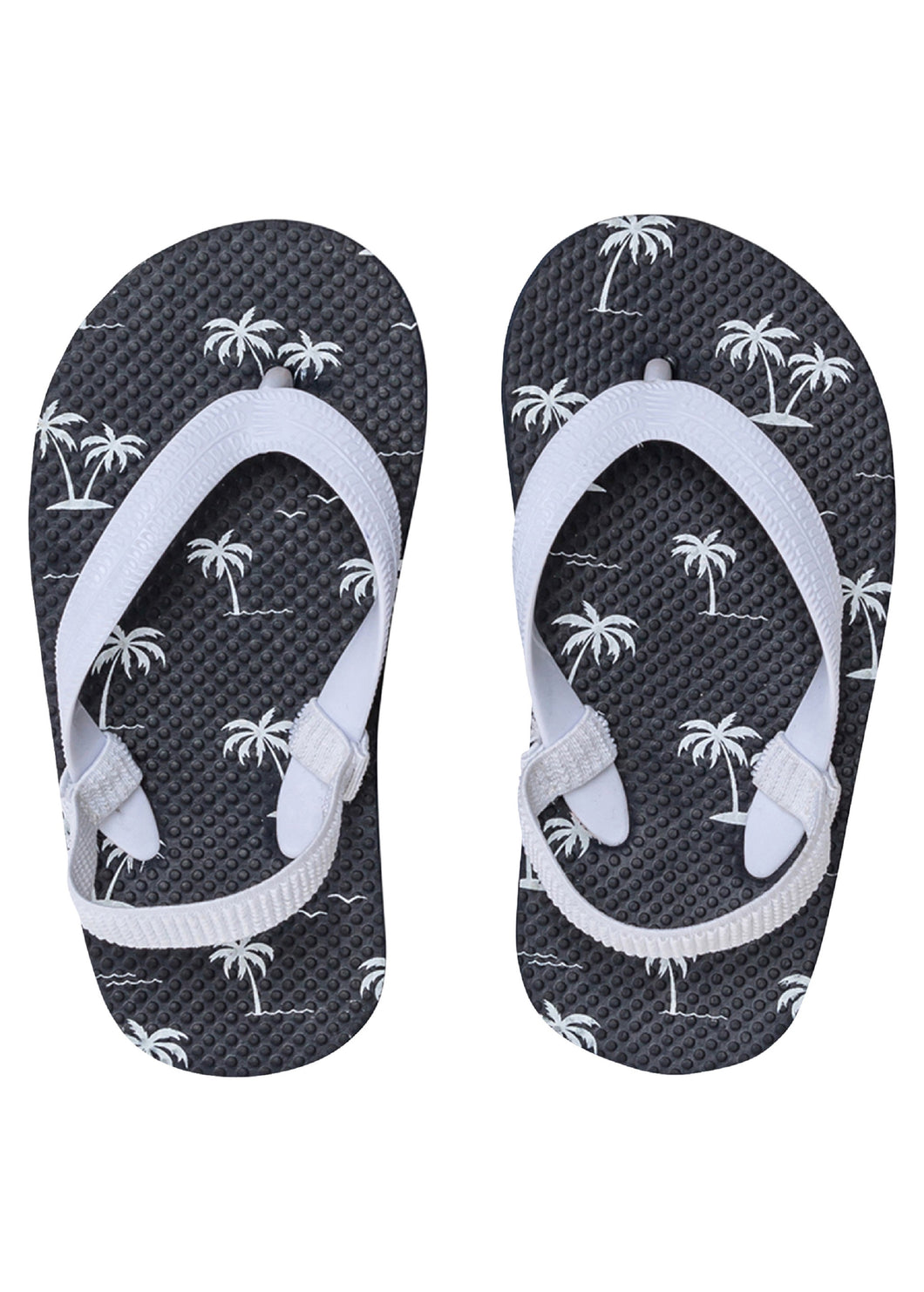Island Palm Navy Flip Flop Toddlers