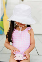 Load image into Gallery viewer, White / Pink Stripe Reversible Bucket Hat