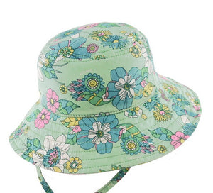 Baby Girls Bucket Hat - Holiday Mint