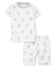 Load image into Gallery viewer, Pj's Blue Pups Short Pajama Set
