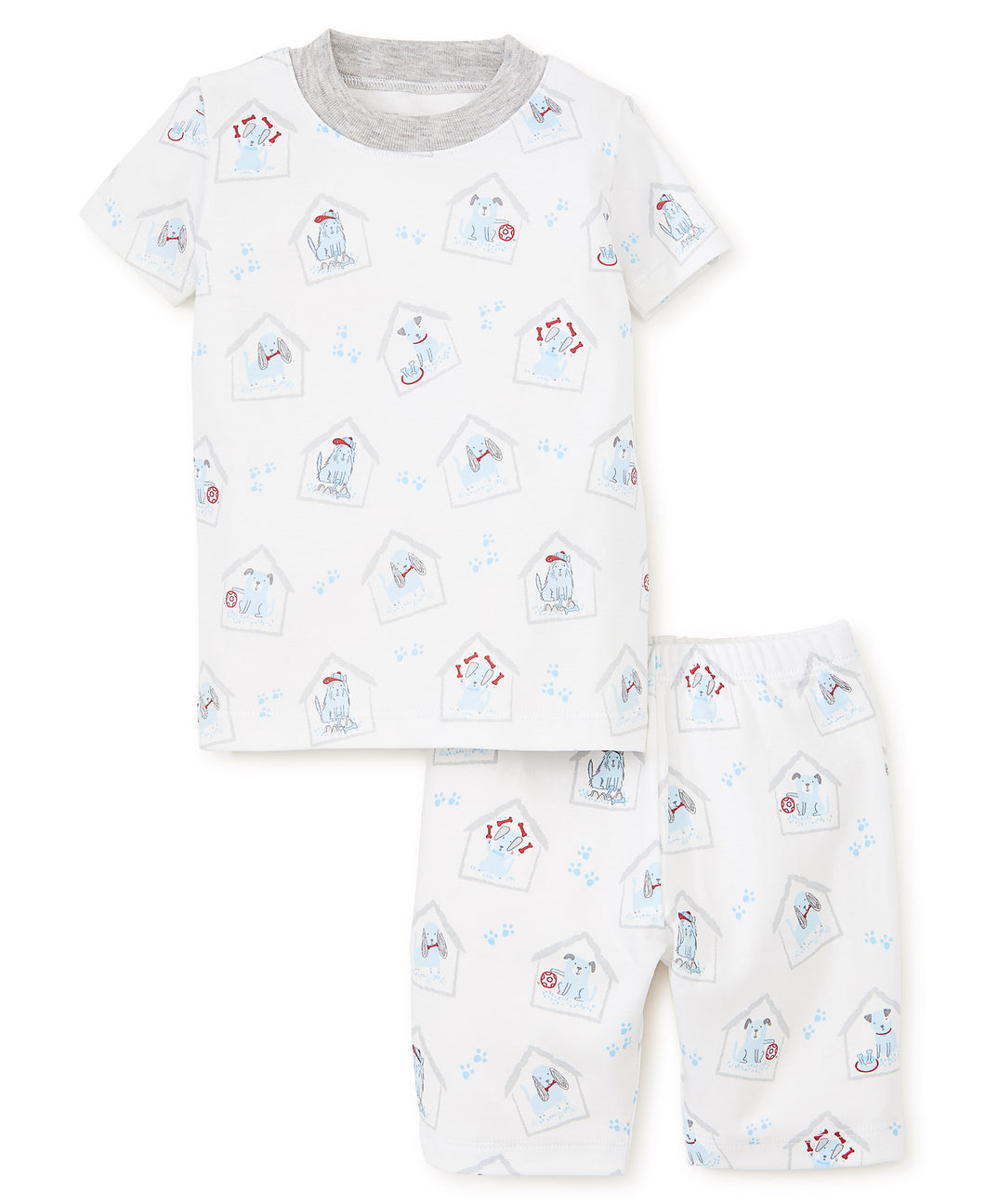 Pj's Blue Pups Short Pajama Set
