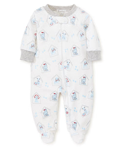 Pj's Blue Pups Footie with Zip