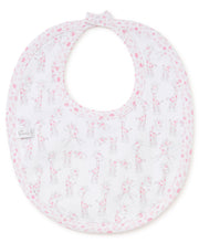 Load image into Gallery viewer, Giraffes Reversible Bib Pink