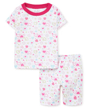 Load image into Gallery viewer, Pj's Happy Hearts Short Pajama Set